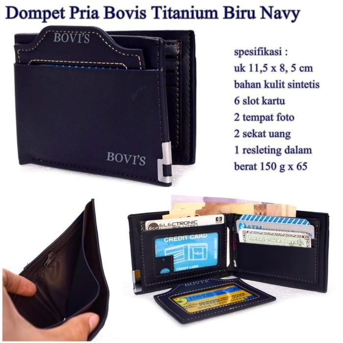 Bovis Dompet Pria Import Fashion Wallet 6 Inchi F 027 PU Leather ... -