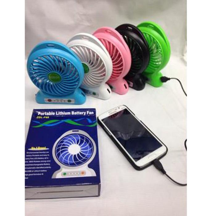 harga Kipas angin power bank / portable mini fan 3 speed + kabel charger Tokopedia.com