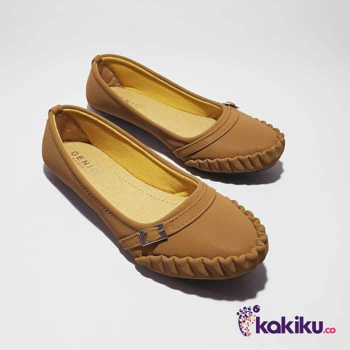Sepatu flat shoes / flatshoes wanita genio nh10 tan / beauty shoes
