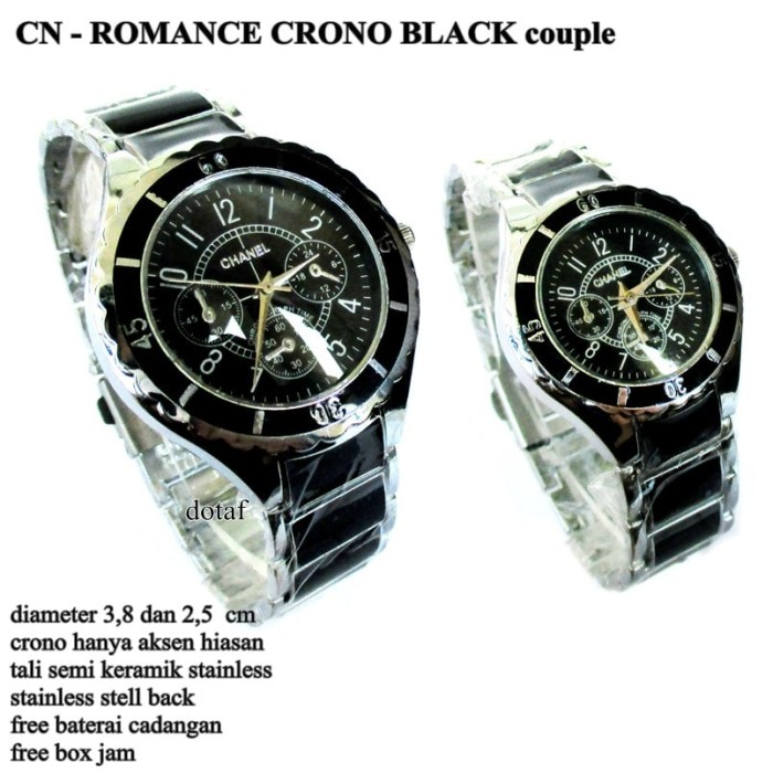 ... Jam Tangan Wanita Ch75678mo Chanel Strap Rubber Stainless Steel Source Jam tangan chanel ring couple pasangan