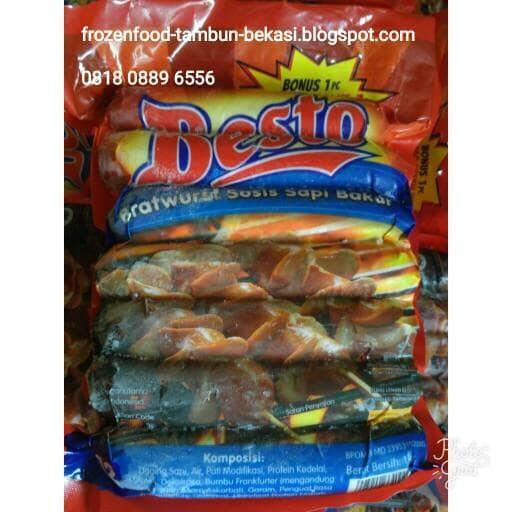 harga Besto sosis bakar 14cm 1kg 12pcs - original Tokopedia.com