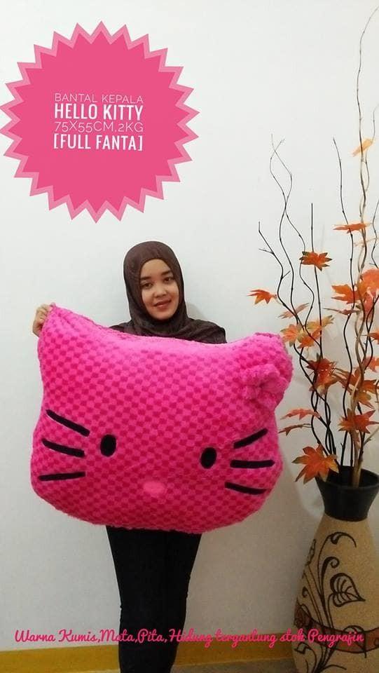 Foto Produk Bantal Kepala Hello Kitty Jumbo dari NN BONEKAKU