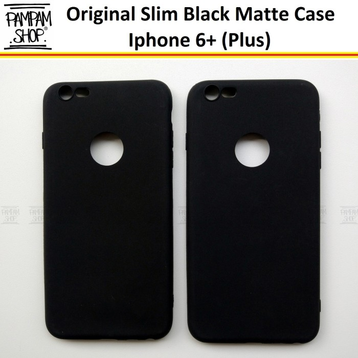 buy popular dd92b 9e08e Jual Soft Case Slim Black Matte Iphone 6+ 6 Plus Ultrathin Hitam Casing -  Jakarta Pusat - PAMPAM SHOP | Tokopedia