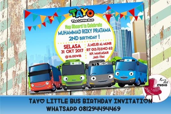 Jual Undangan Ulang Tahun Tema Tayo The Little Bus Jakarta Timur Bowlicious Shop Tokopedia