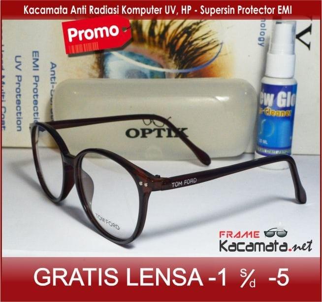 Frame Kacamata + Lensa Minus Anti Radiasi Pria Wanita Baca Korea Kotak d0236fb5a3