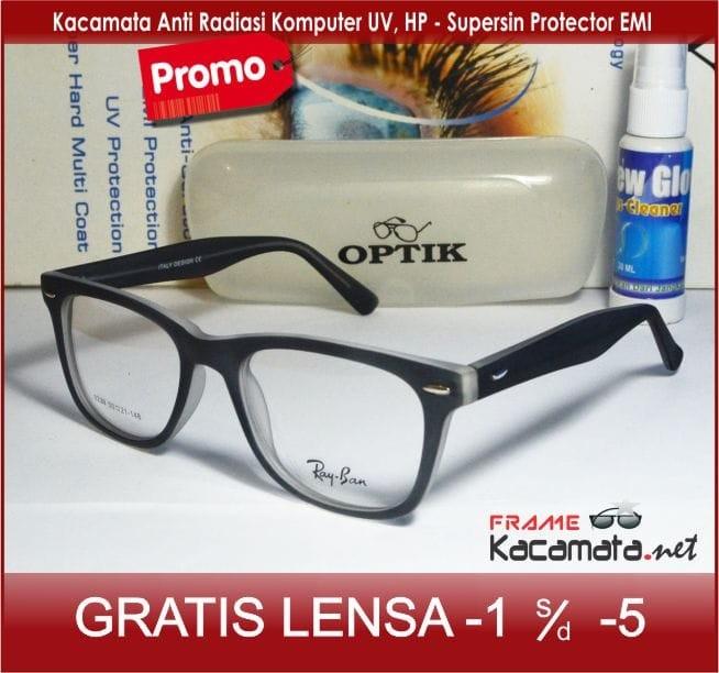 Frame Kacamata + Lensa Minus Anti Radiasi Pria Wanita Baca Kotak Korea 4a7d90a508