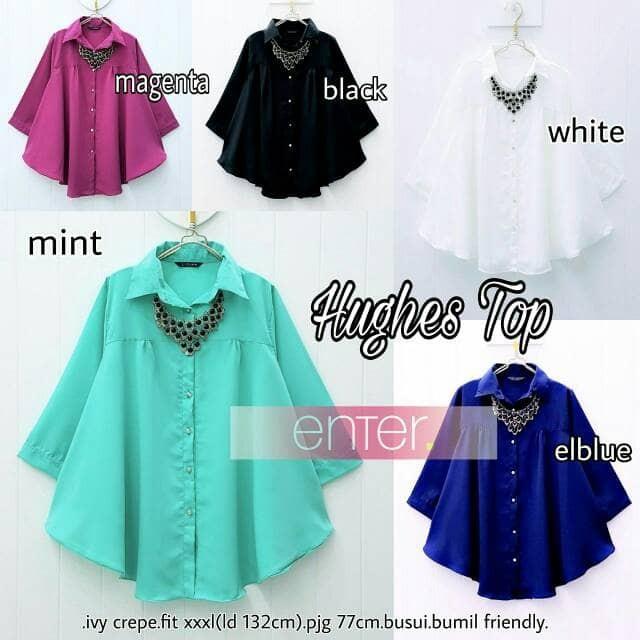 harga Hughes baju setelan atasan tunik blouse wanita Tokopedia.com