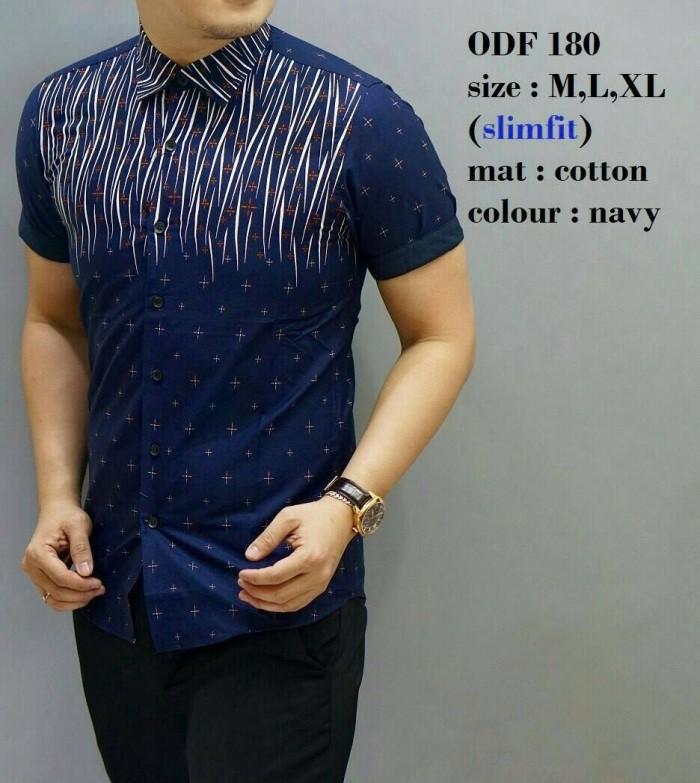 Batik, Kemeja slimfit pria,Baju batik cowok Lengan pendek odf 180