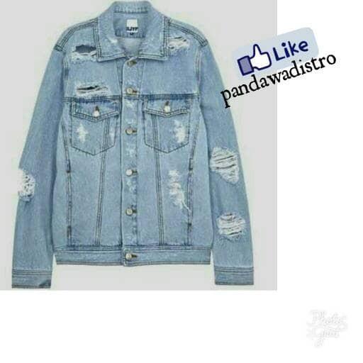 jaket jeans ripped jaket levis biru muda dan tua for pria wanita