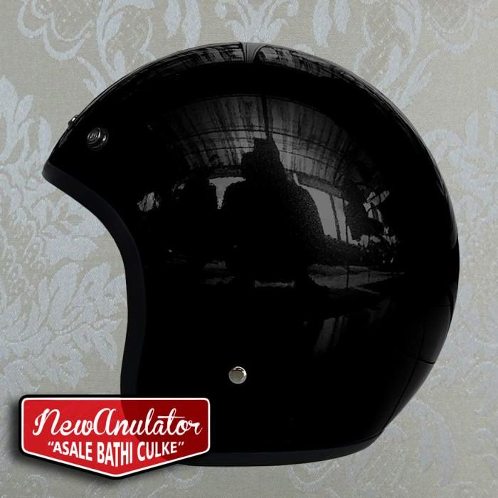 harga Helm bogo glossy hitam custom 500 retro pilot lis list chrome kru Tokopedia.com