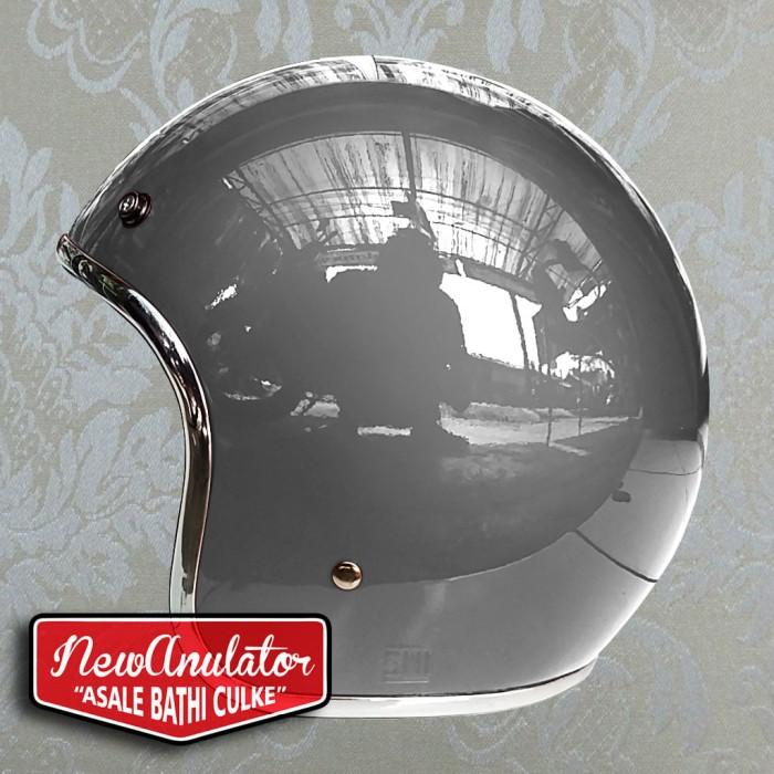 harga Helm bogo abu glossy custom 500 retro pilot lis list chrome krum krom Tokopedia.com