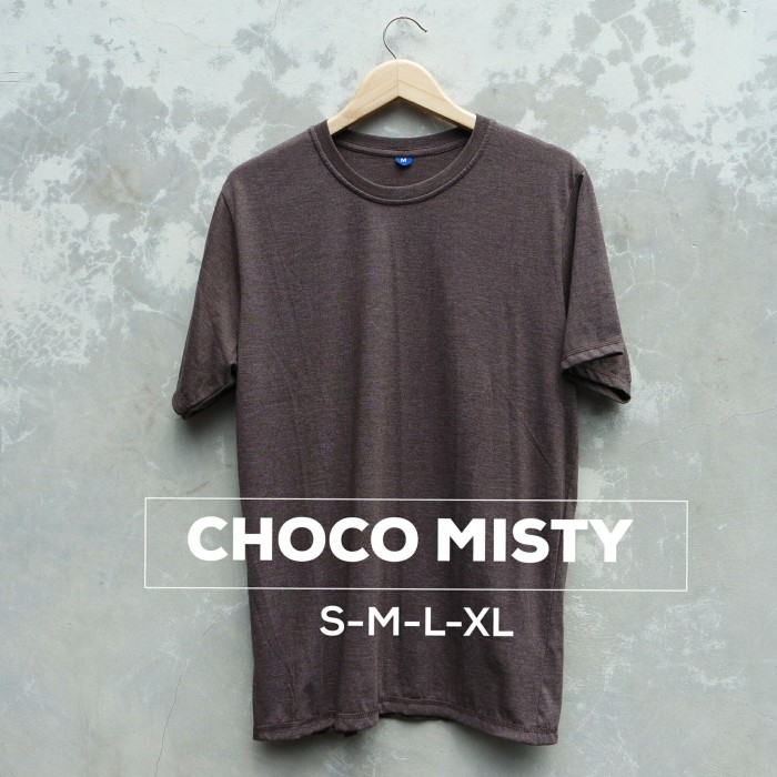 harga Kaos polos baju oblong coklat misty pria wanita cewe cowo Tokopedia.com