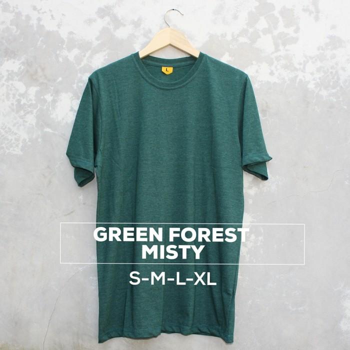 harga Kaos polos baju oblong green forest misty pria wanita cewe cowo Tokopedia.com