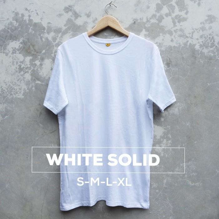 harga Kaos polos baju oblong putih solid pria wanita cewe cowo Tokopedia.com