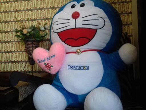 harga [gratis Bantal Nama]boneka Doraemon Jumbo Tertawa-65 Cm Tokopedia.com