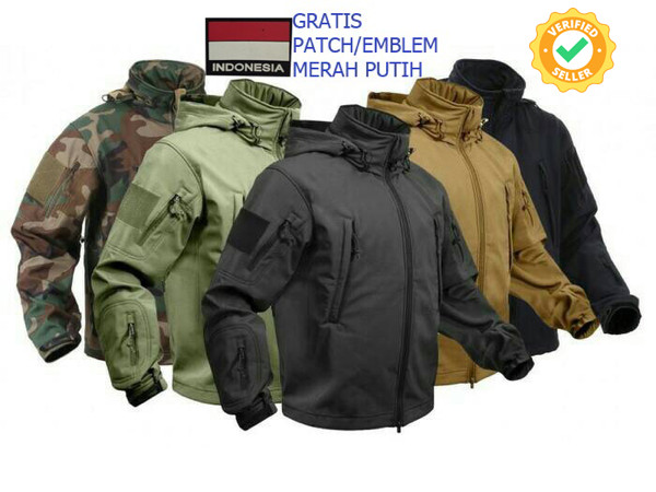 Jaket Militer Tad Shark Skin Soft Shell Jokowi Ri 1
