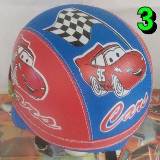 harga Helm anak chip retro cars merah biru Tokopedia.com