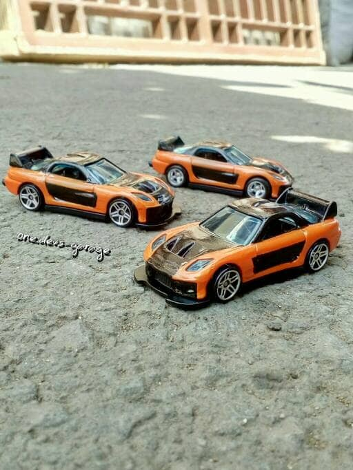 mazda rx7 fast and furious. hotwheels fast furious mazda rx7 han tokyo drift customloose rx7 and