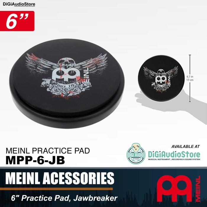 harga Meinl mpp-6-jb practice pad jawbreaker 6 inch / pad drum stick 6 Tokopedia.com