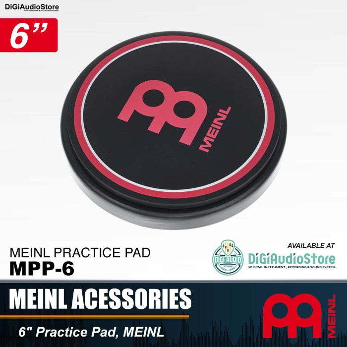 harga Meinl mpp-6 practice pad meinl 6 inch / pad drum stick 6  latihan stik Tokopedia.com