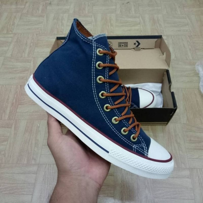 sepatu converse all star high dress blue tan   biru dongker navy BNIB 0b87b5d65b