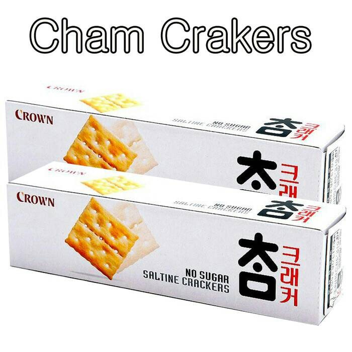 Crown cham crackers saltine biscuit no sugar biskuit snack korea