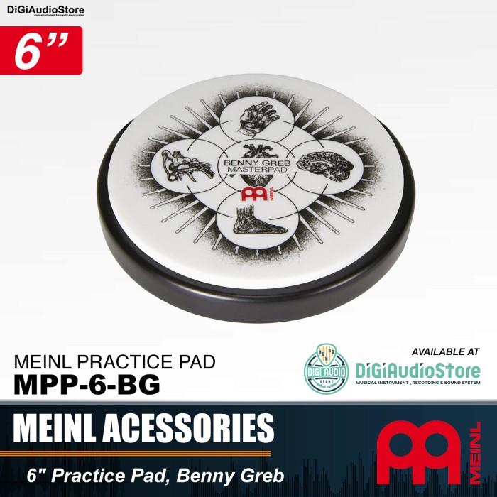 harga Meinl mpp-6-bg 6 inch masterpad benny greb practice pad / drum pad 6 Tokopedia.com