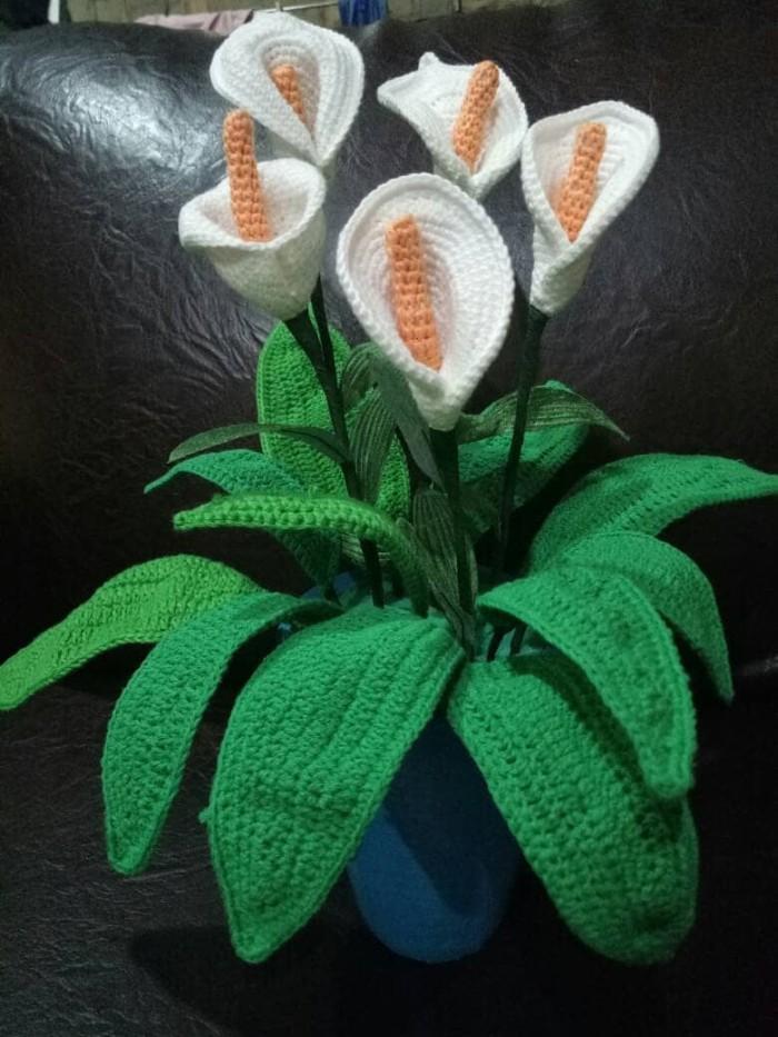 Jual Rajutan Bunga Lili Hand Craft Jakarta Pusat Rajut Rajut Hand Craft Tokopedia