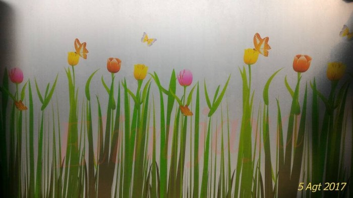 harga Fiber / plastik penutup pagar tinggi 1meter motif bunga tulip doff Tokopedia.com