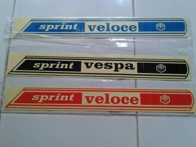 harga Stiker bodi tempong set kanan kiri vespa klasik sprint veloce bagol Tokopedia.com