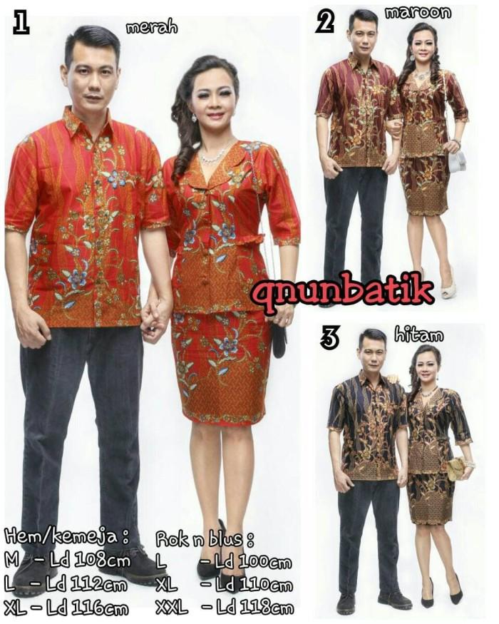 harga Sarimbit couple batik rok n blus wanita lucyana daun Tokopedia.com