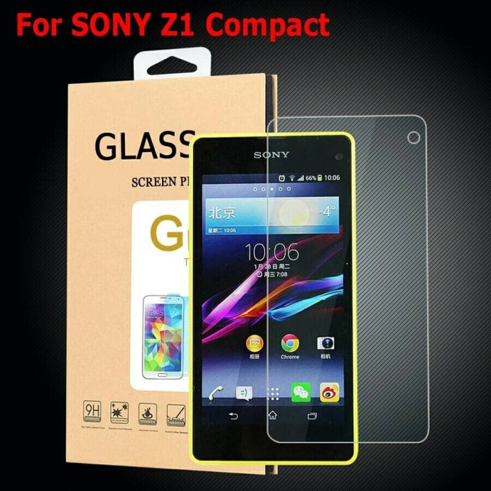 harga Tempered glass sony xperia z1 compact docomo anti gores sony z1 mini Tokopedia.com