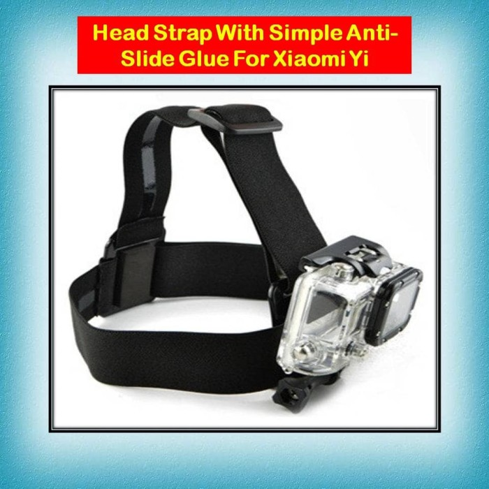 harga Head strap with simple anti-slide glue for xiaomi yi gopro brica Tokopedia.com