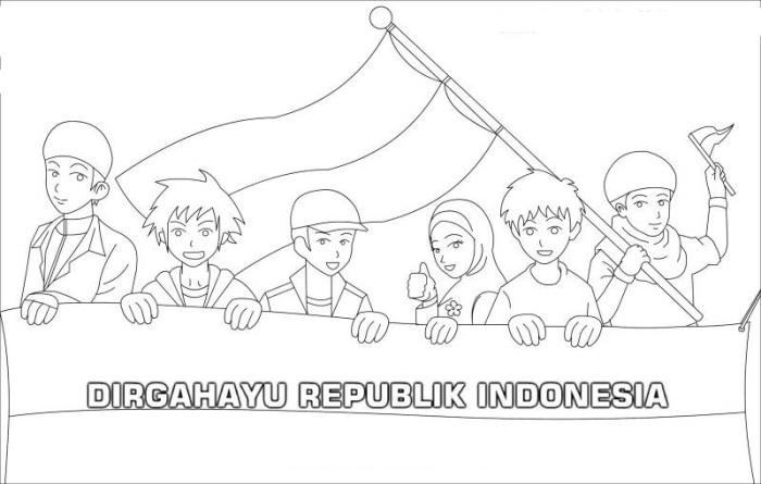 Jual Mewarnai 17 Agustuslombamerdekagambar Dki Jakarta Poster