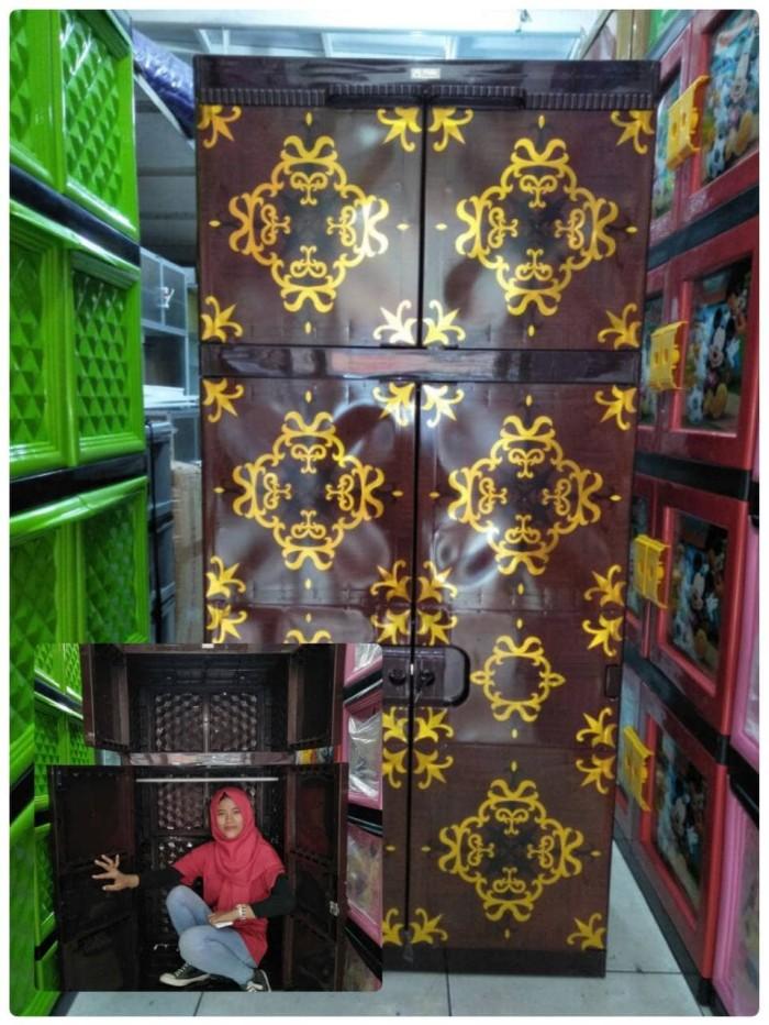 harga Lemari plastik gantung lemari pakaian jumbo hexa Tokopedia.com