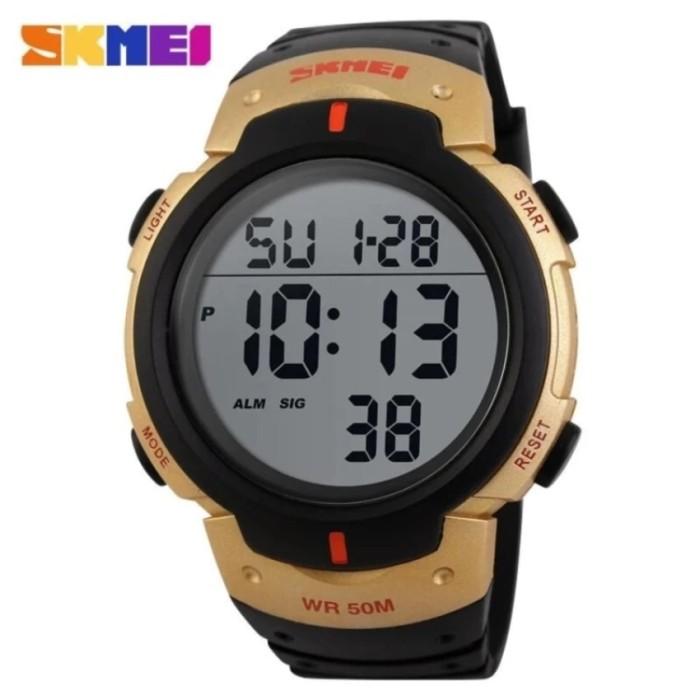 ... harga Skmei jam tangan pria digital led military sport 1068 - gold  Tokopedia.com cc8cd21963