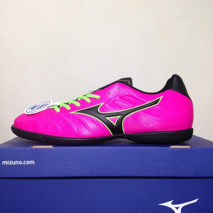 Jual Sepatu Futsal Mizuno Rebula V3 IN Pink Glo Black P1GF178564 ... f4c654cb4f