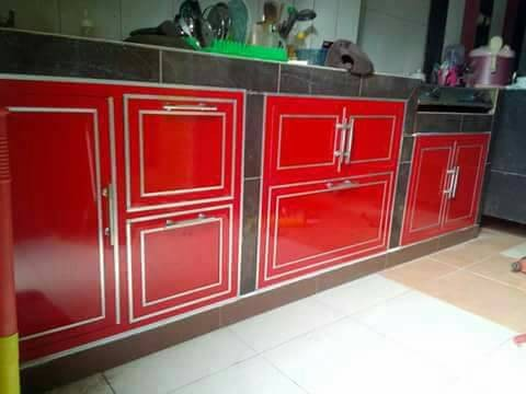 Jual Kitchen Set Aluminium Composite Panel Aji Jaya Gypsum Tokopedia