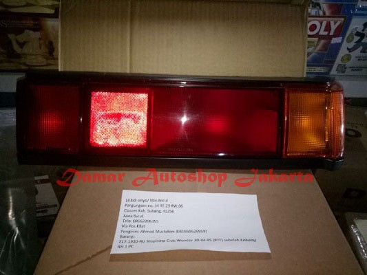 harga Stoplamp honda civic wonder sb3 3d 2 pintu 1984 -1985 Tokopedia.com