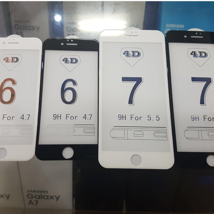 Tempered Glass 4d Iphone 6 / 6+ / 7 / 7+