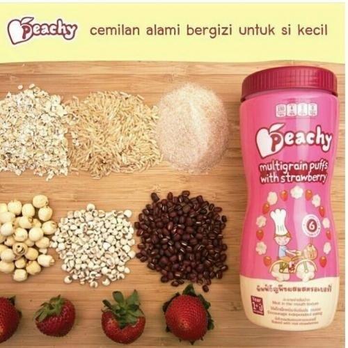 harga Peachy multigrain puffs with strawberry Tokopedia.com