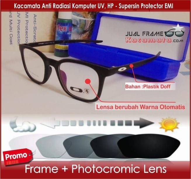 Jual Kacamata Frame +Photocromic Lensa Minus Pria Wanita Baca Korea ... 0ffe6d5681