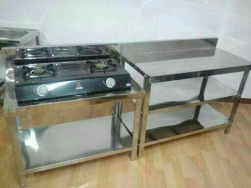 Meja Dapur Stainless Set Kompor Dan Kerja