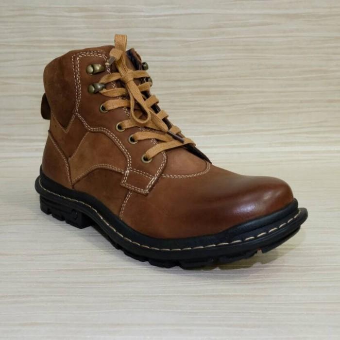 harga Sepatu boot pria kulit casual formal merk jim joker original jeruk 01 Tokopedia.com