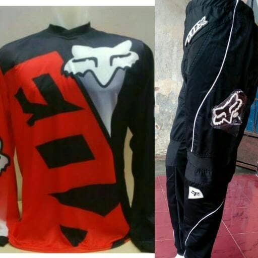 ... harga Jerset jersey celana trail cross adventure motocross fox merah hitam Tokopedia com