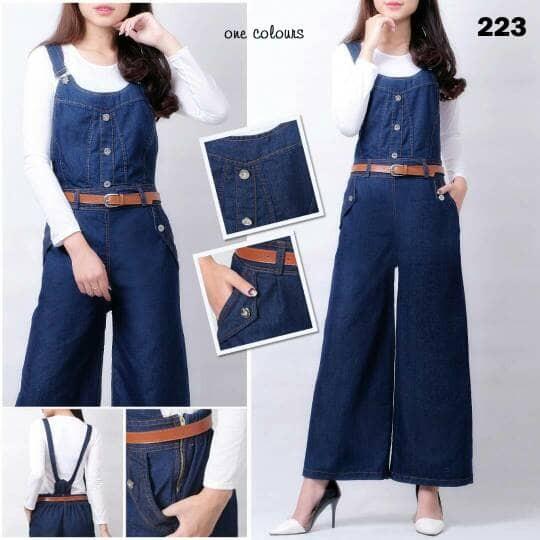168 collection Celana Kulot BubleFlow Long Pant-Biru. Source · harga Overall celana kulot