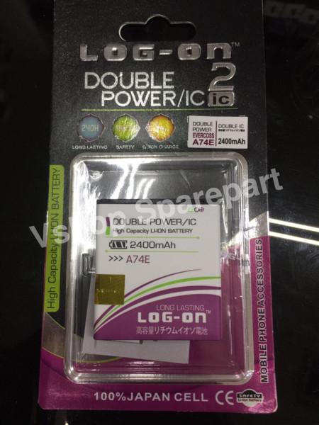 Batre baterai double power double ic evercoss a74e