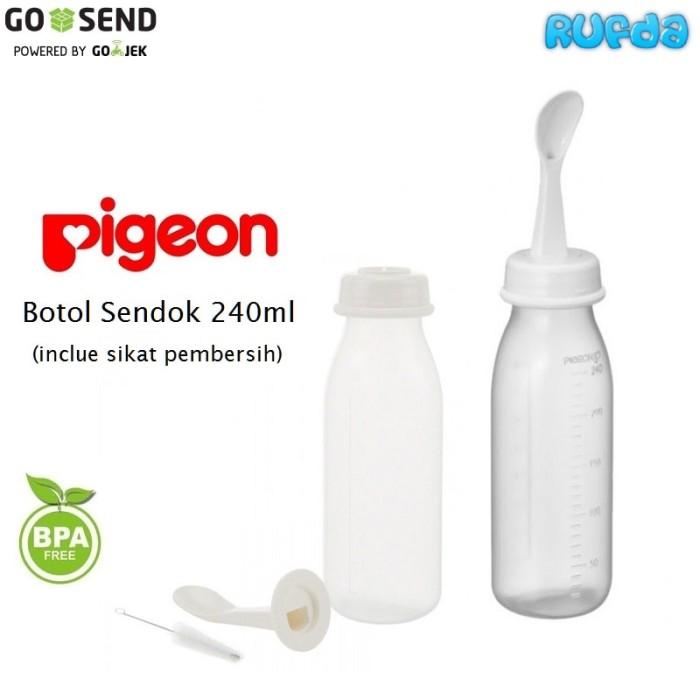 harga Pigeon botol sendok 240ml weaning bottle with spoon Tokopedia.com