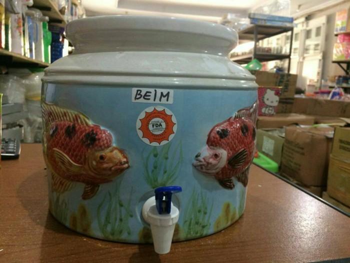 harga Water dispenser keramik / guci air keramik motif timbul Tokopedia.com