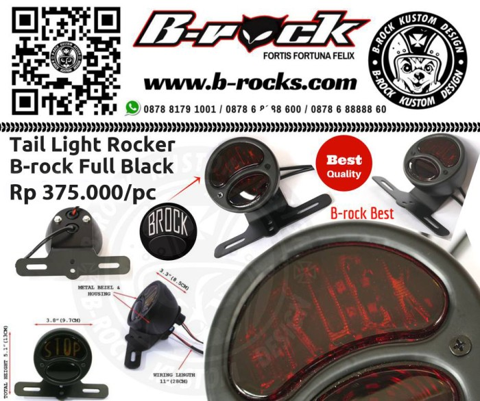 harga Stoplamp custom japstyle caferacer rocker b-rock full black Tokopedia.com